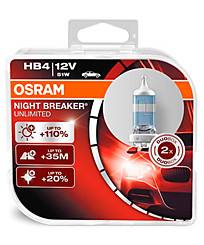 Osram HB4 (P22d) Night Breaker Unlimited (+110%) (2шт.) 9006NBU-DUOBOX