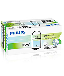Лампа Philips Long Life EcoVision R5W (BA15s) 12821LLECOCP