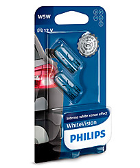 Philips W5W (W2,1x9,5d) White Vision (2 шт.) 12961NBVB2
