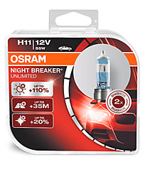 OSRAM H11 (PGJ19-2) Night Breaker Unlimited (+110%) (2 шт.) 64211NBU-HCB