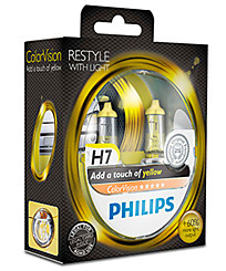 Philips H7 (PX26d) ColorVision желтый (2 шт.) 12972CVPYS2