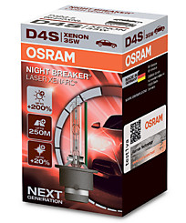 Ксеноновая лампа D4S Osram Xenarc Night Breaker Laser (+200%) 66440XNL