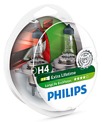 Philips H4 (P43t) LongLife EcoVision (2шт.) 12342LLECOS2
