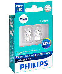 Philips W5W (W2,1x9,5d) Ultinon LED 6000K (2 шт.) 11961ULWX2