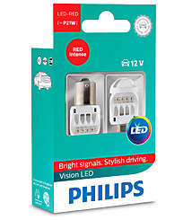 Philips Vision LED P21W (BA15s) красные (2шт.) 12839REDX2
