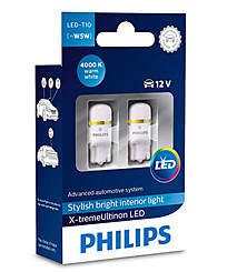 Светодиоды Philips W5W (W2,1x9,5d) LED 4000K X-tremeUltinon LED (2 шт.) 127994000KX2