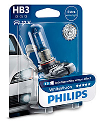 Philips HB3 (P20d) White Vision 9005WHVB1
