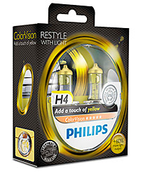 Philips H4 (P43t) ColorVision жёлтый (2 шт.) 12342CVPYS2