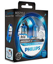 Philips H4 (P43t) ColorVision голубой (2 шт.) 12342CVPBS2