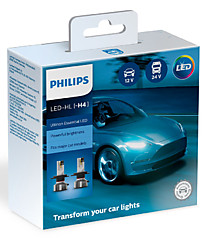 Philips Ultinon Essential LED H4 6500K (2 шт.) 11342UE2X2