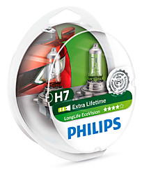Philips H7 (PX26d) LongLife EcoVision (2шт.) 12972LLECOS2