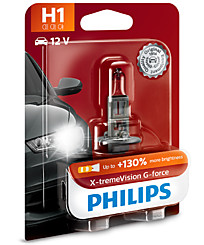 Philips H1 X-tremeVision G-force (+130%) (1 шт.) 12258XVGB1