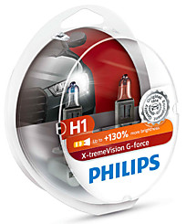 Philips H1 X-tremeVision G-force (+130%) (2 шт.) 12258XVGS2