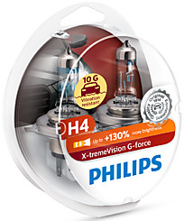 Philips H4 X-tremeVision G-force (+130%) (2 шт.) 12342XVGS2