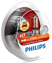 Philips H7 X-tremeVision G-force (+130%) (2 шт.) 12972XVGS2