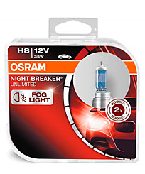 Osram H8 (PGJ19-1) Night Breaker Unlimited (2 шт.) 64212NBU-HCB