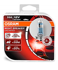 OSRAM Н4 (P43t) Night Breaker Unlimited (+110%) (2шт.) 64193NBU-HCB