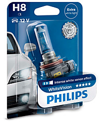 Philips H8 (PGJ19-1) WhiteVision (1 шт.) 12360WHVB1