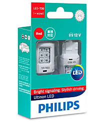 Philips W21W (W3x16d) Ultinon LED RED (2 шт.) 11065ULRX2