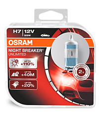 Osram H7 Night Breaker Unlimited (+110%) (2 шт.) 64210NBU-HCB