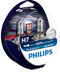 Philips H7 (PX26d) Racing Vision (+150%) (2 шт.) 12972RVS2